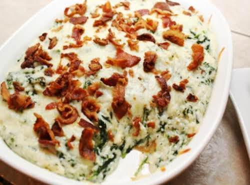 """Grits and Greens Casserole""""This is hands down, by far, my all time..."""