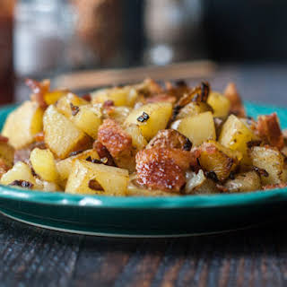 Fried Potatoes German Style.