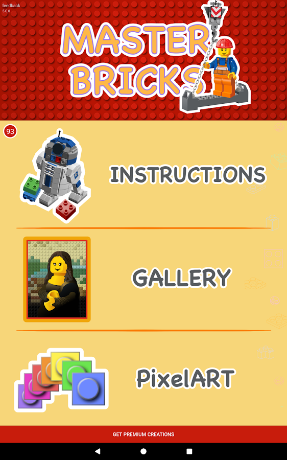 Instructions for LEGO® toys Master Bricks- screenshot