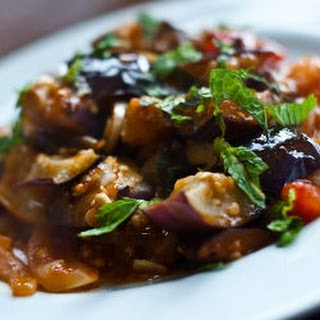 Eggplant and Bell Pepper Appetizer.