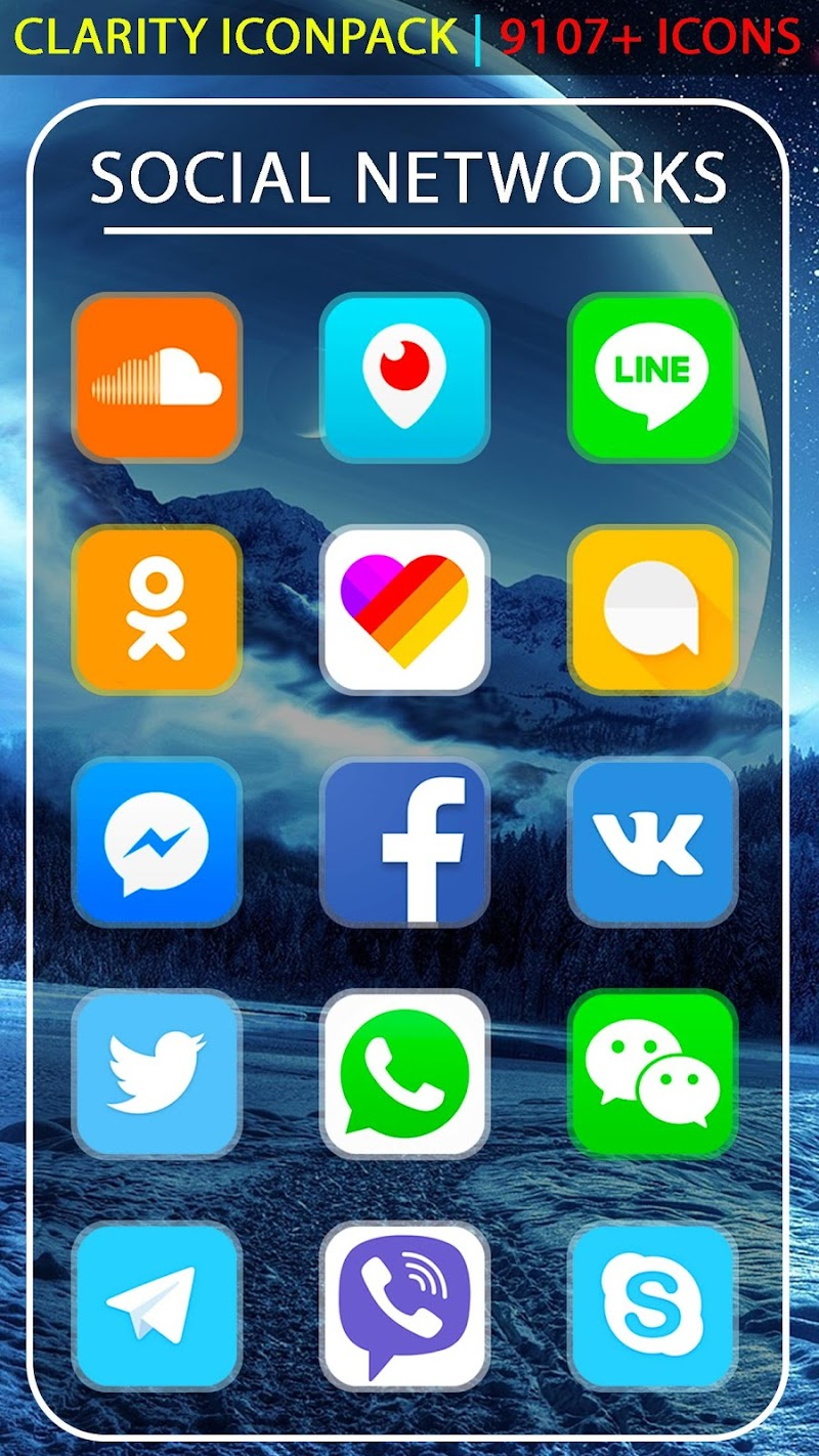 Clarity Icon Pack UX Theme Screenshot 2