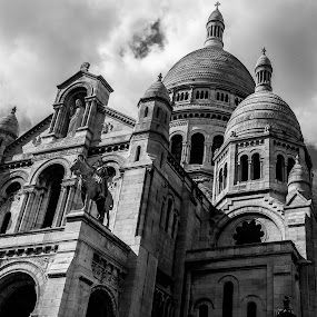 Monte by George Nichols - Black & White Buildings & Architecture ( religion, paris, catholic, europe, church, architecture,  )