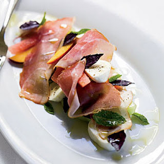 Melon-and-Peach Salad with Prosciutto and Mozzarella