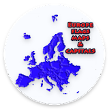 master europe's couontries , capitals and map.