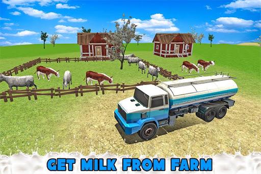 輸送トラックの牛乳配達