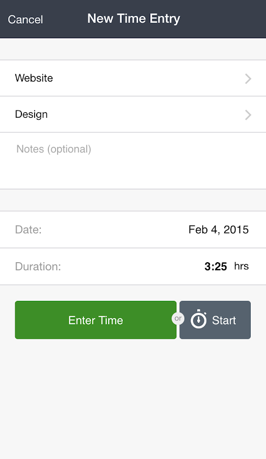 Tick (Time & Budget Tracking)- screenshot