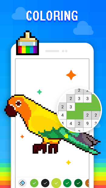 Pixel Art - Color by the Block Number Android App Screenshot