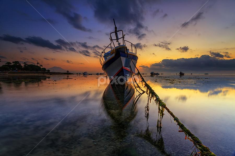 The New Flying Dutchman's Ship by Satrya Prabawa - Transportation Boats ( bali, indonesia, boats, asia, ships, sunrise )
