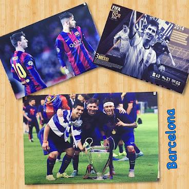 巴塞羅那系列 絲質海報(可來圖訂做)! #Lionel Messi #NeymarJR #Suarez #Barcelona