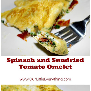 Spinach and Sundried Tomato Omelet.