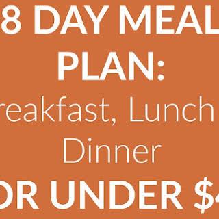 Breakfast, Lunch & Dinner for under $45.