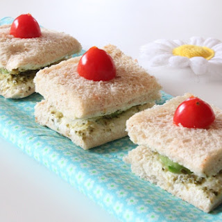 Cucumber & Cream Cheese Tea Sandwiches