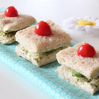 Cucumber & Cream Cheese Tea Sandwiches.