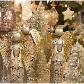 Three Angels  by Lorraine D.  Heaney - Public Holidays Christmas