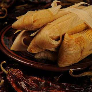 Sweet Potato Tamales with Chipotle and Pecans.