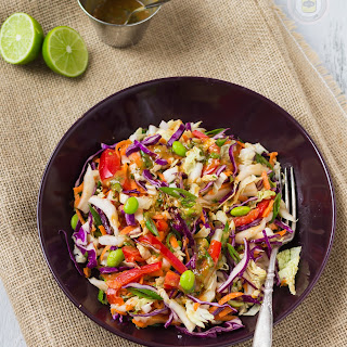THAI SALAD WITH PEANUT LIME DRESSING