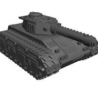 1/100 scale Tiran tank