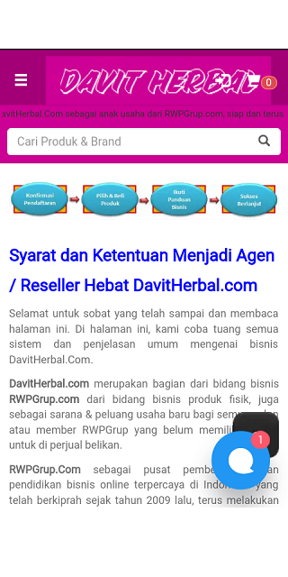 Distributor Produk Herbal | DavitHerbalCom- screenshot