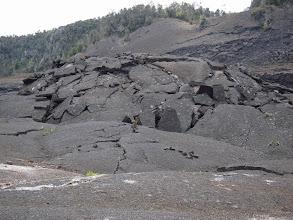 Photo: Bulging solidified lava.