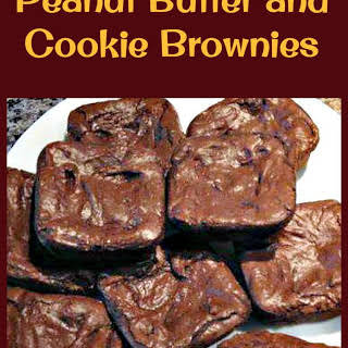Peanut Butter and Cookie Brownies.