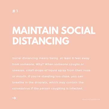 Maintain Social Distancing - Instagram Post Template