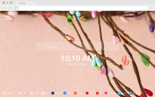 Floral New Tab Page HD Popular Scenery Theme
