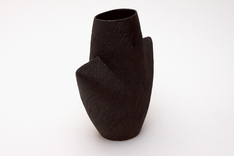 Chris Carter Ceramic Mask Pot Black 10