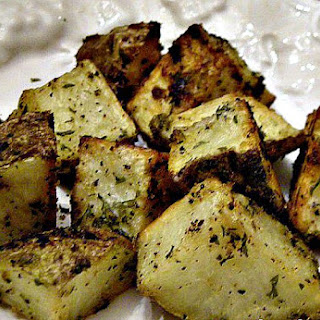 Oven Roasted Garlic Potatoes.