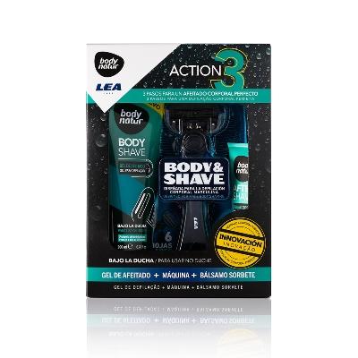 depilación body natur pack cuchilla gel y sorbete 3und