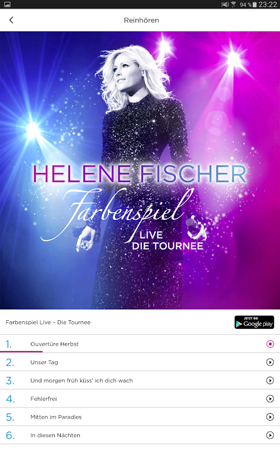 Helene Fischer- screenshot