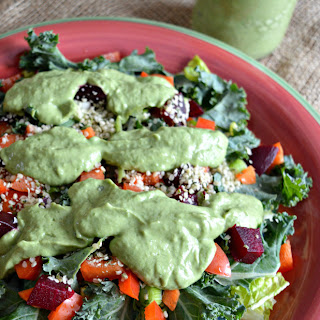 Avocado Green Goddess Dressing (Paleo/ Vegan/ Dairy Free/ Gluten Free).