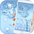 Blue Water Rose Flower Theme Wallpaper icon