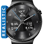 Black Metal HD Watch Face & Clock Widget Icon