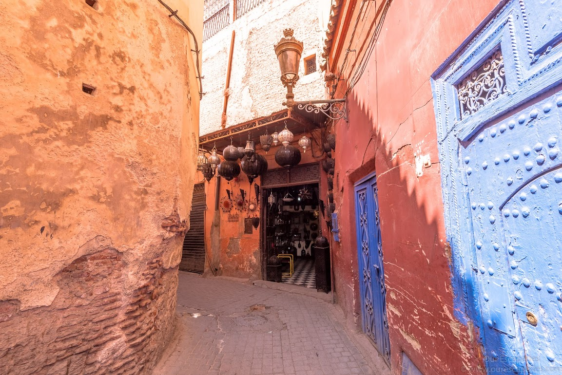 Walking through the Marrakech souks