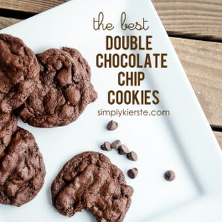 The Best Double Chocolate Chip Cookies.