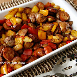 (recipe) Sausage, Potato & Peppers Healthy Skillet.