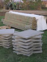 Photo: Yurt platform materials have arrived