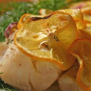 Quick Baked Fish with Meyer Lemons.