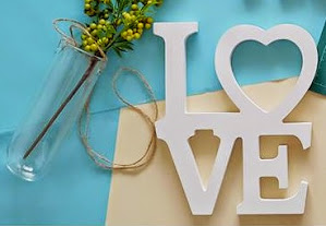 3d alphabet LOVE for wedding