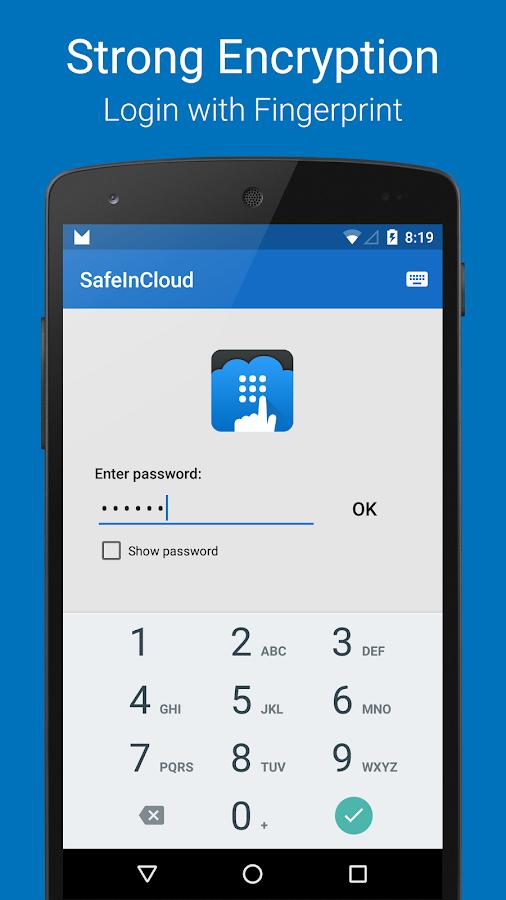 Password Manager SafeInCloud™- screenshot