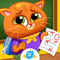 Bubbu School - My Cute Pets   Animal School Game icon