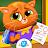 Bubbu School - My Cute Pets | Animal School Game logo