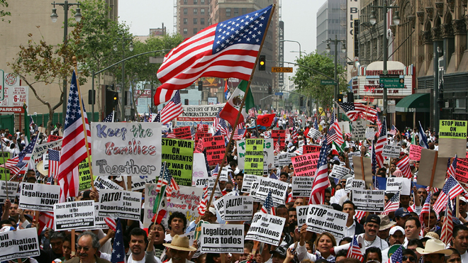 Image result for illegal immigrants march