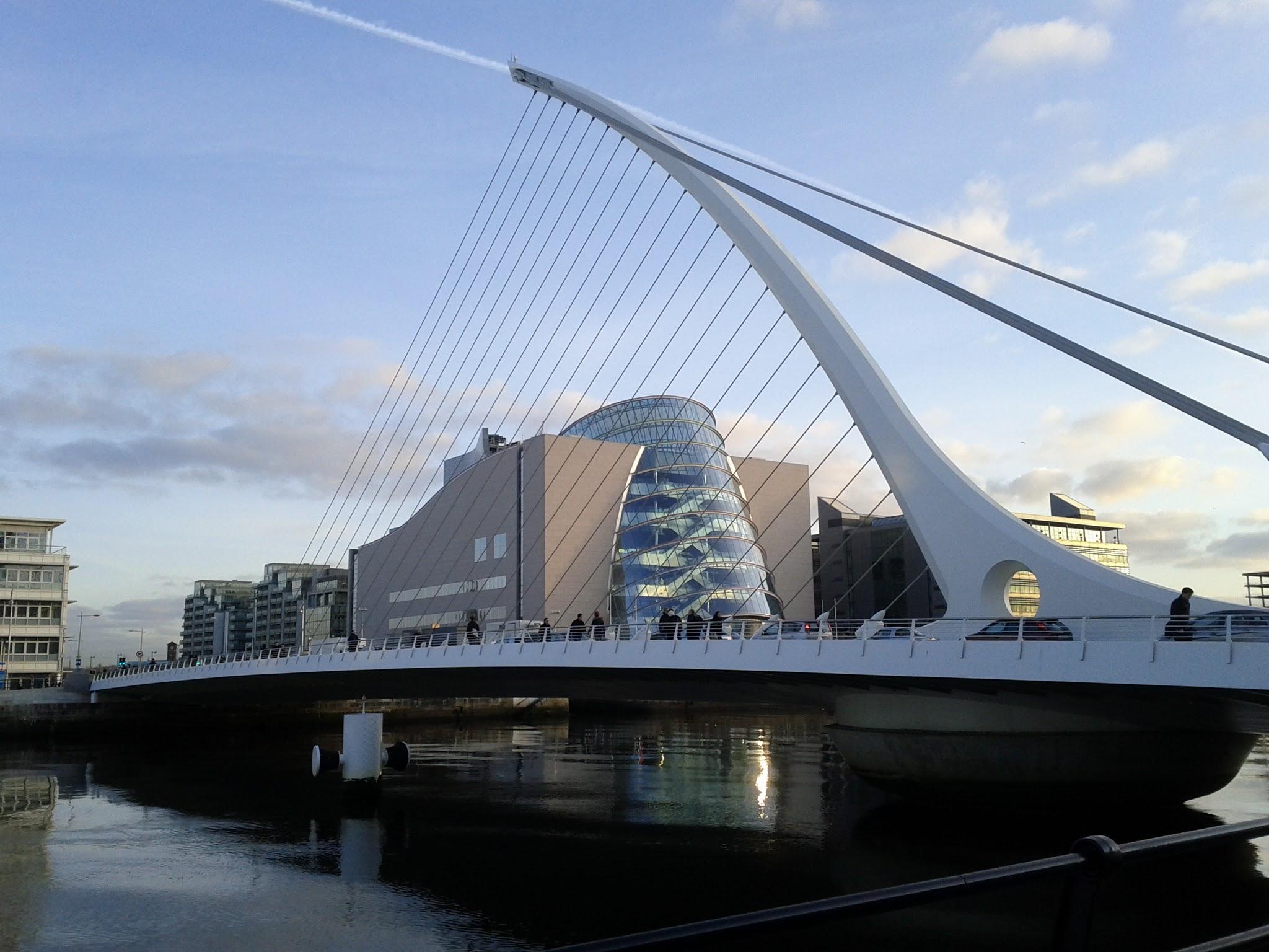 Photo: The Dublin Convention Center and harp bridge
