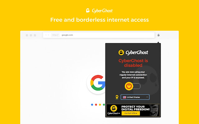 Stay secure with CyberGhost VPN Free Proxy