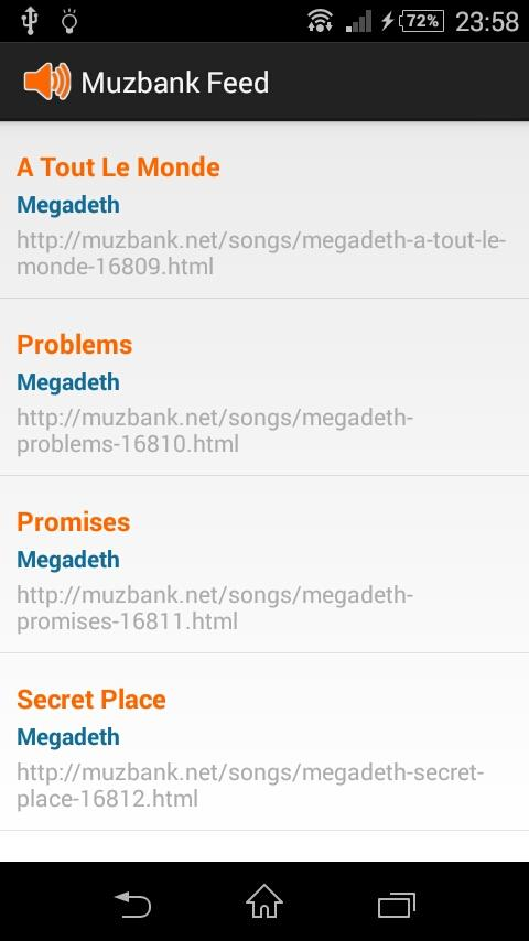 MUZBANK FEED (chords of songs)- screenshot