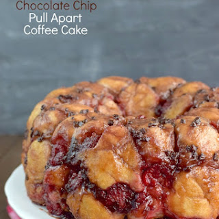 Raspberry Chocolate Chip Pull Apart Coffee Cake