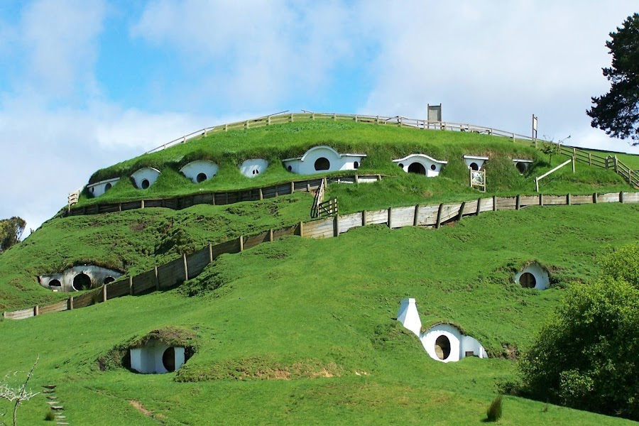 Hobbiton by Sarah Harding - Novices Only Landscapes ( outdoors, novices only, movie, architecture, landscape,  )