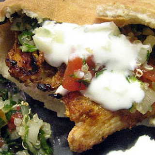 Moroccan Chicken Pitas