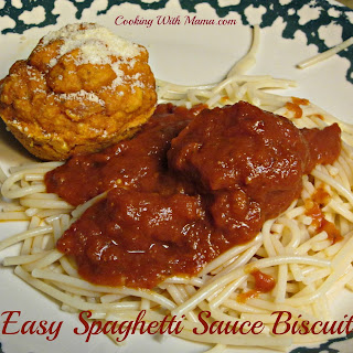 Easy Spaghetti Sauce Biscuits
